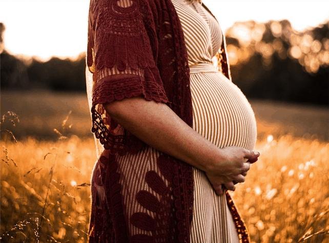 divine goddess pregnant belly