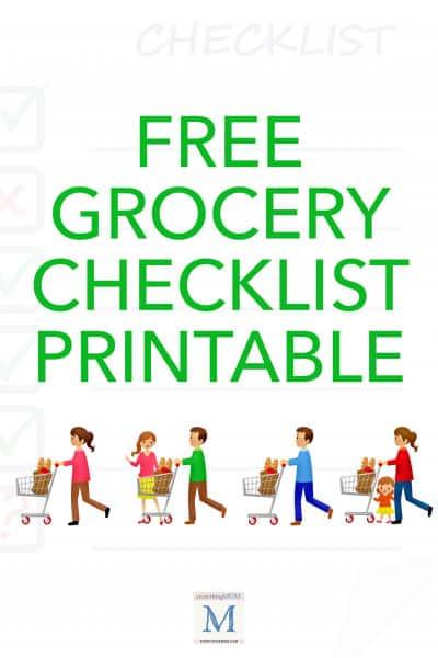 Free Grocery Check List Printable