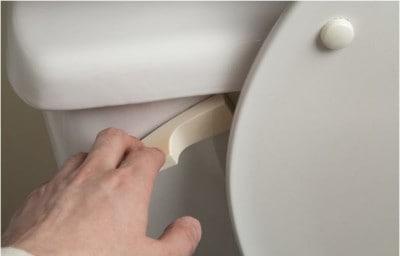 Giving a courtesy flush