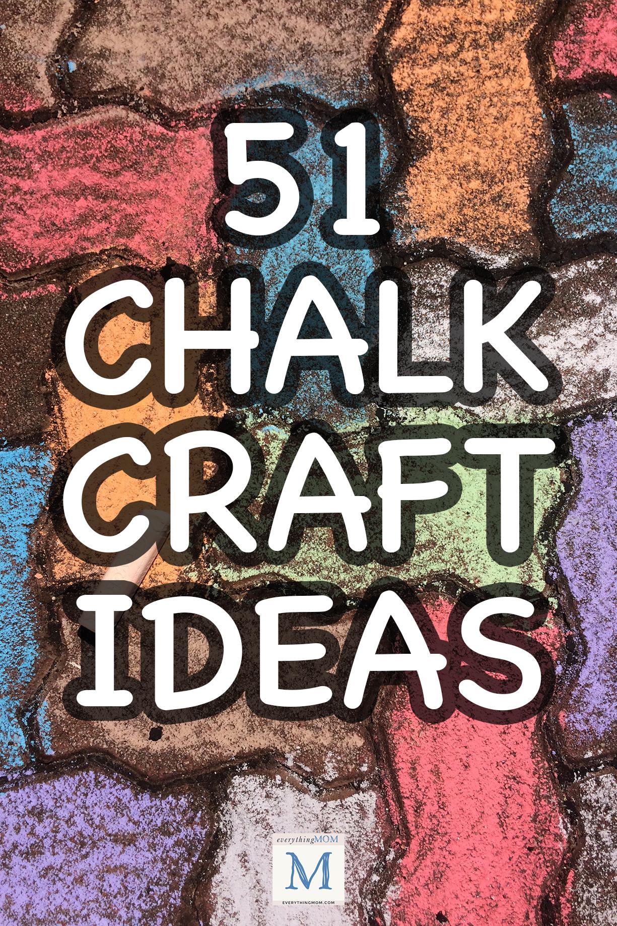 45 Easy Chalk Craft Ideas For Kids Everythingmom