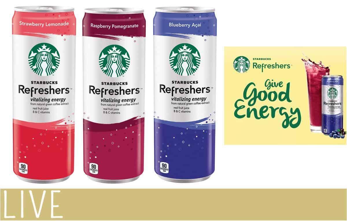 Starbucks Refreshers Good Energy On The Go Gift Pack