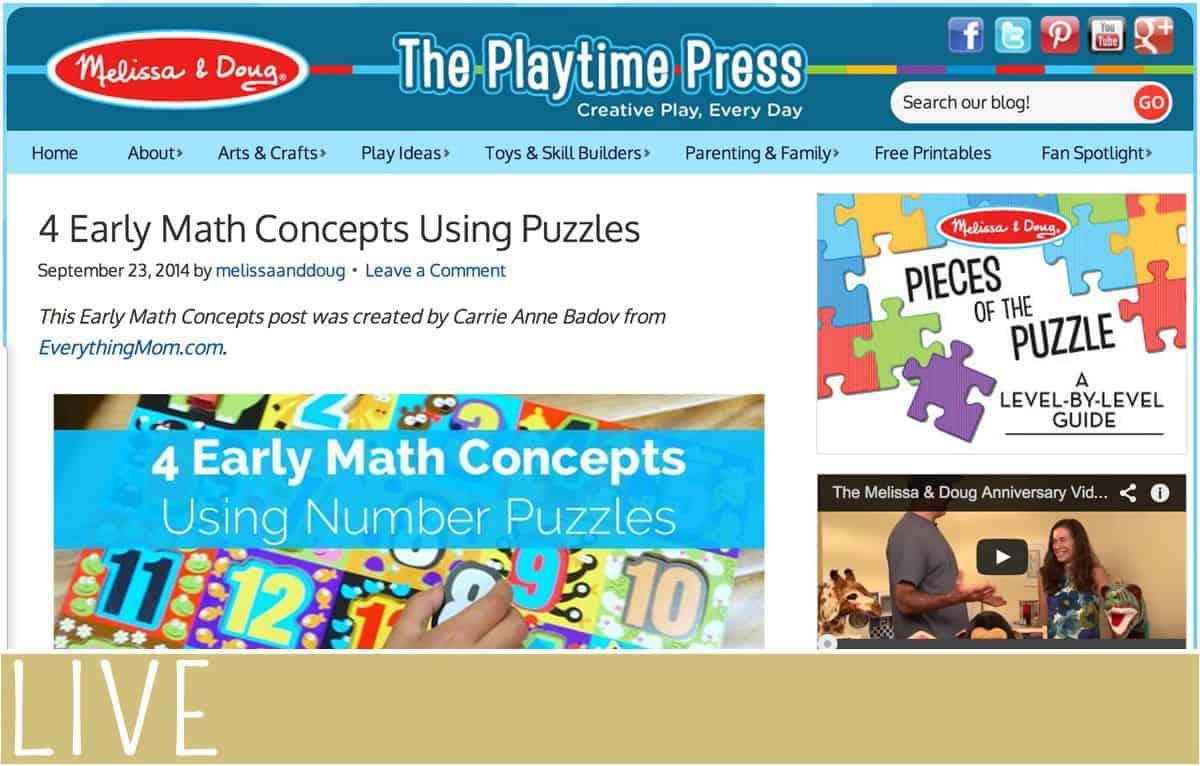Melissa and Doug September Math Post