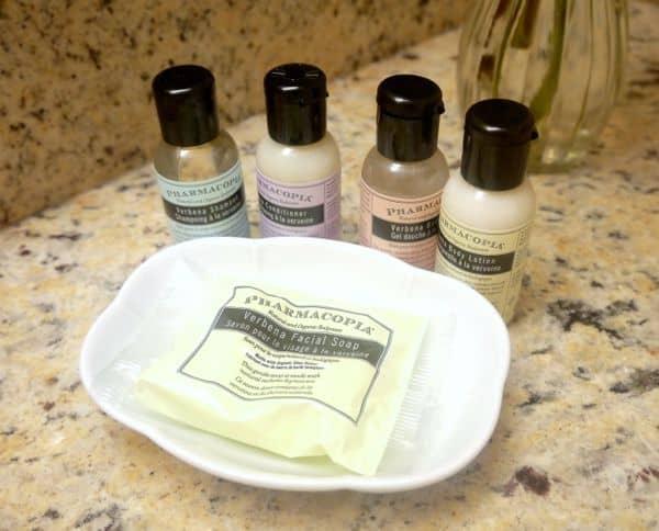 family travel Eaton Chelsea bath products