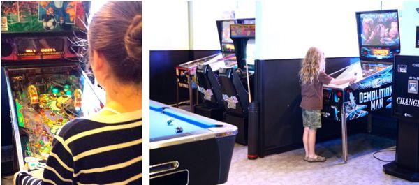 family travel Eaton Chelsea teen zone pinball