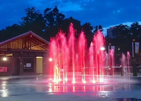 Family Travel Tallahassee Aloft Hotel Fountain