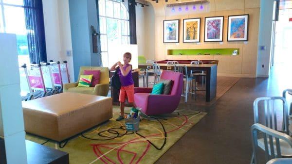 Family Travel Tallahassee Aloft Hotel Lobby