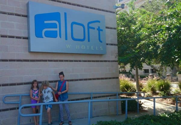 Family Travel Tallahassee Aloft Hotel Sign