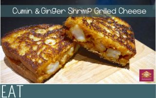 Pataks Indian Shrimp Grilled Cheese Dinner2