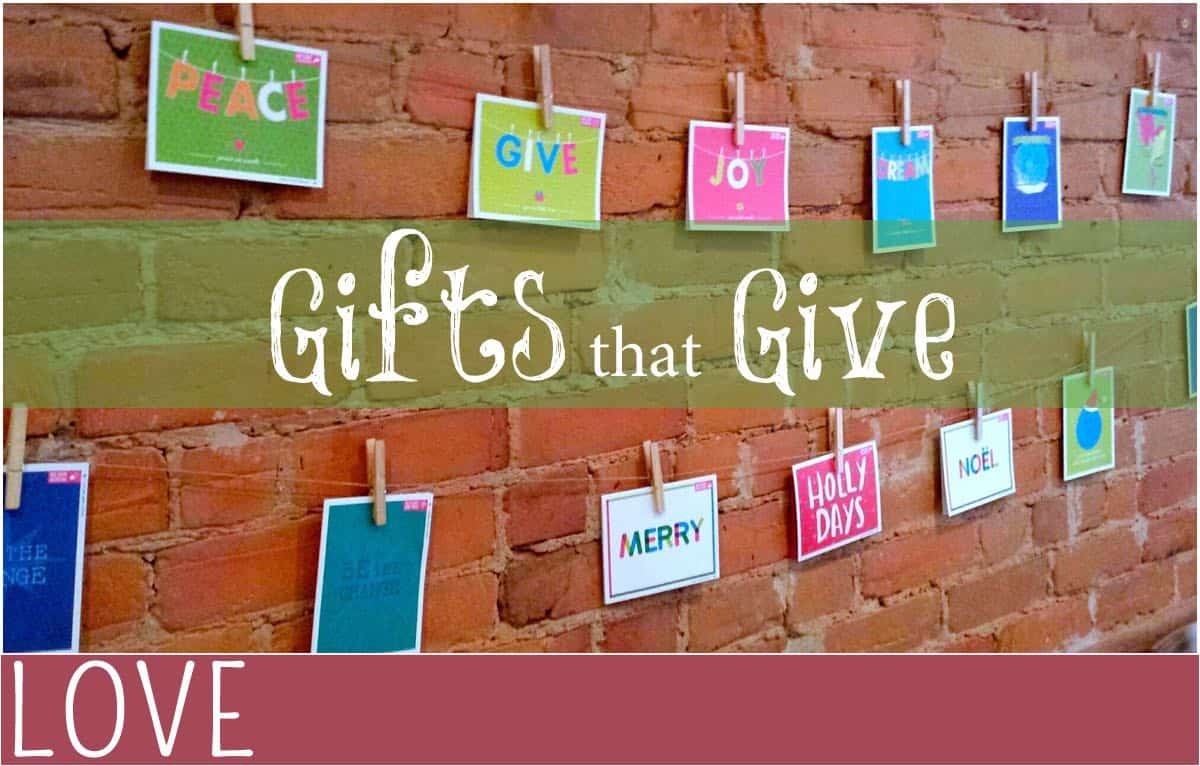 giving gifts that give back everythingmom