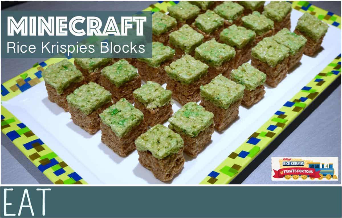 Minecraft Rice Krispies Blocks | EverythingMom