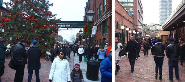 Toronto Christmas Market Walkways
