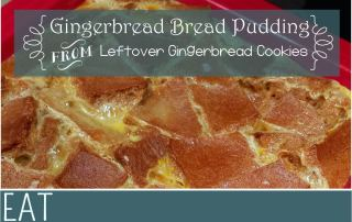 gingerbread bread pudding leftover recipe