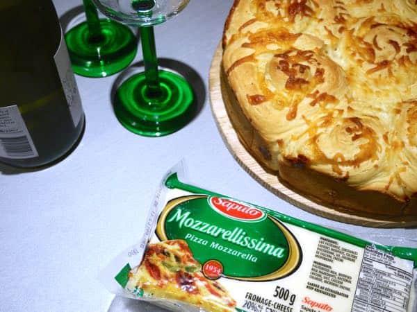 Saputo Mozzarellissima Cheese Bun and Wine