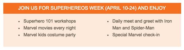 Sunwing Vacations Marvel Super Hero Activities