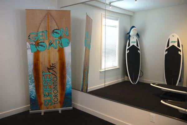 Surfset Toronto Fitness Studio Sign
