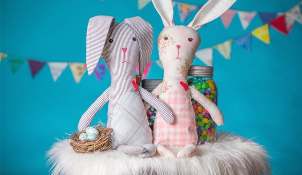 Etsy One of a Kind Sew Whimsical Bunnies