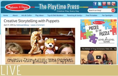 April Melissa Doug Puppet Play Post
