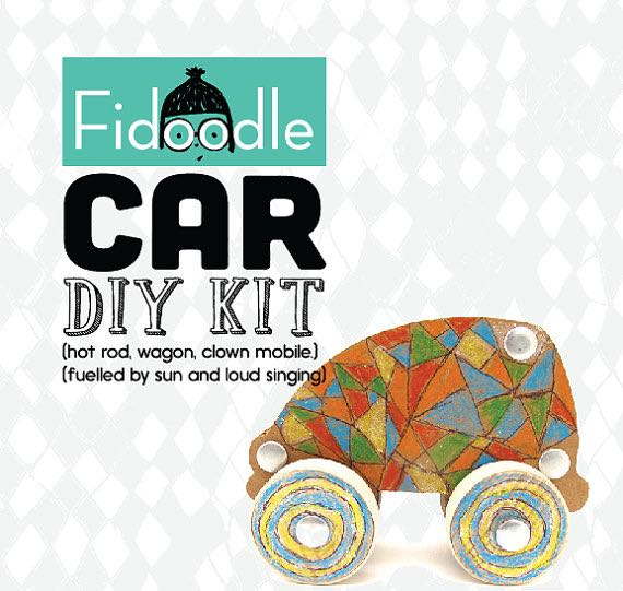 Etsy Canada DIY Kits Cardboard Car Kit