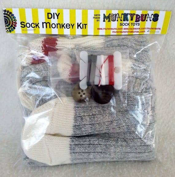 Etsy Canada DIY Kits Sock Monkey