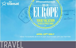 Family Travel Air Transat European Charity Auction