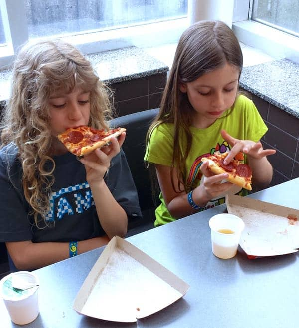 Family Travel Ont Science Centre Sleepover Pizza Snack