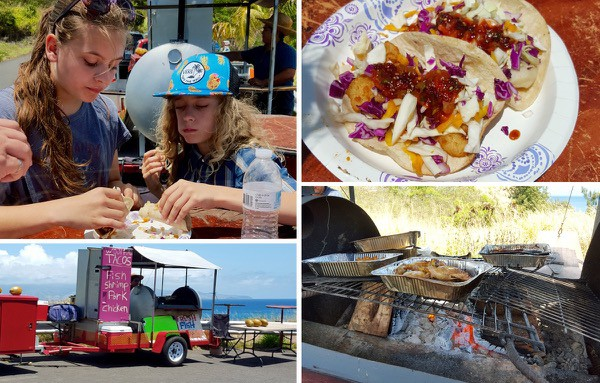 Family Travel Hawaii Maui Kahekill Highway fish tacos (1)