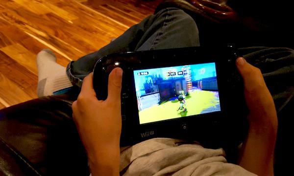 family game time Splatoon Wii U game pad