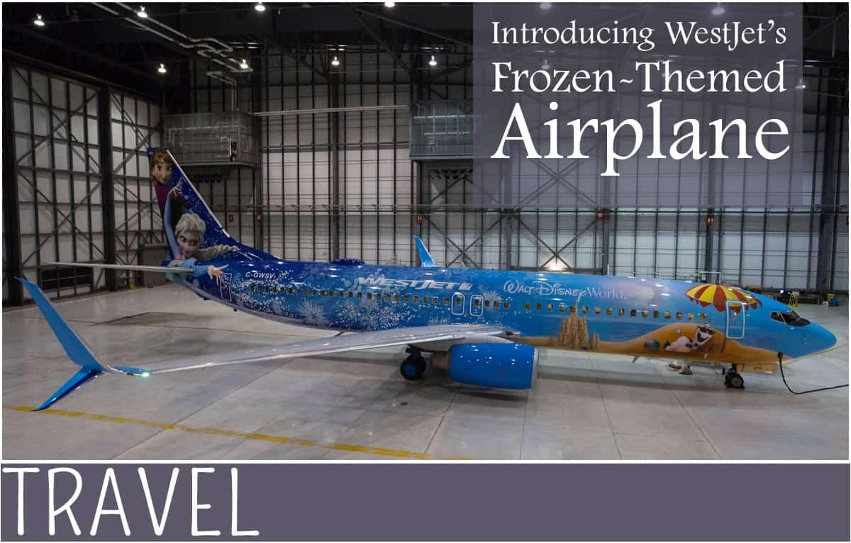 Family-Travel-WestJet-Disney-Frozen-Airplane
