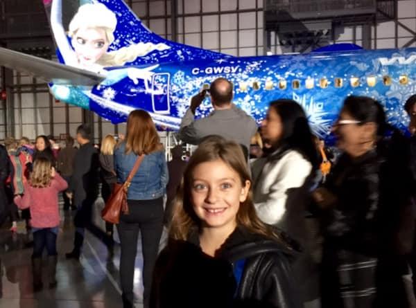 Family-Travel-WestJet-Frozen-Plane-Launch