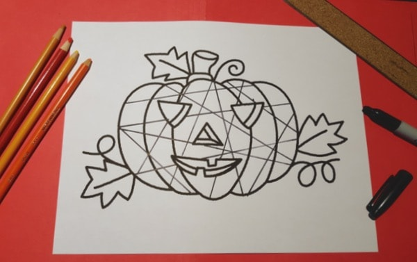 Halloween-Pumpkin-Mosaic-Colouring-Craft2