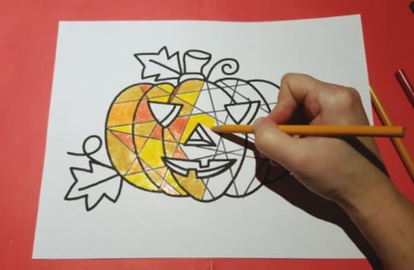 Halloween-Pumpkin-Mosaic-Colouring-Craft4