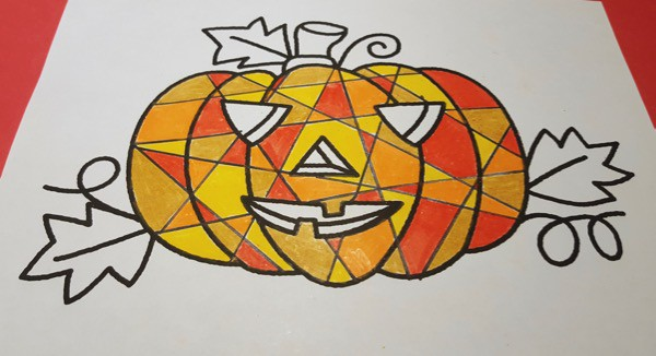 Halloween-Pumpkin-Mosaic-Colouring-Craft5