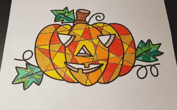 Halloween-Pumpkin-Mosaic-Colouring-Craft6