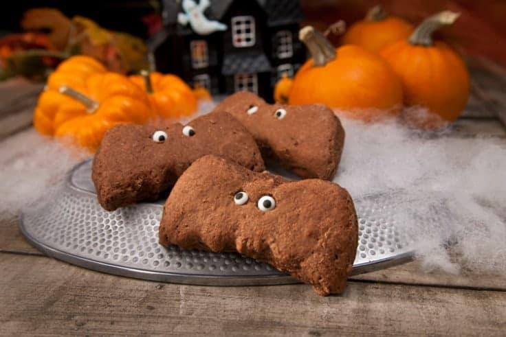 chocolate halloween bat biscuit cookies