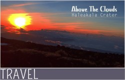 Family-Travel-visiting-Maui-Haleakala-Crater-sunset
