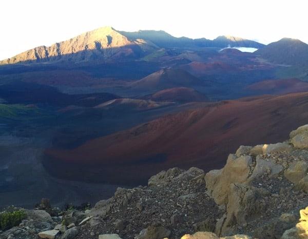 Family Travel Haleakala Crater landscape