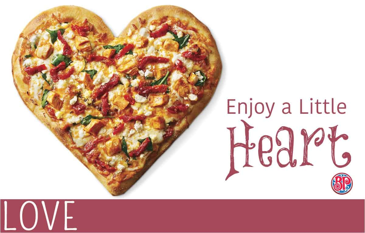 View Larger Image Valentines Day Boston Pizza Heart Pizza