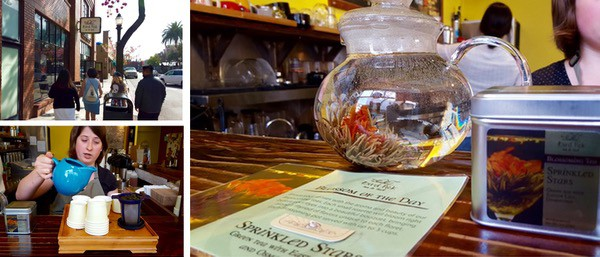 Family-Travel-Pasadena-California-Melting-Pot-Food-Tour-Bird-Pick-Tea-Drinking