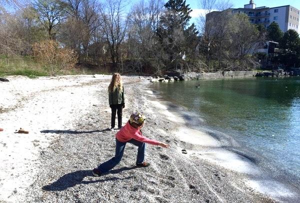 Kamik-Step-Outside-Challenge-Skipping-Rocks