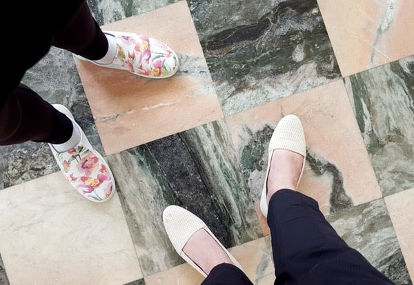 Ecco Shoes Floral SlipOns