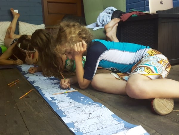 Family Colouring To the Moon