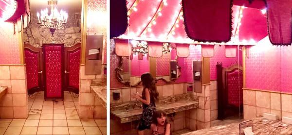 Family-Travel-California-Madonna-Inn-Pink-Washroom