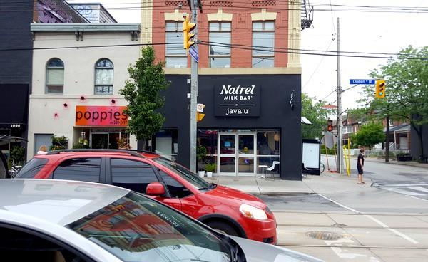 Family-Travel-Natrel-Milk-Bar-Toronto-Building