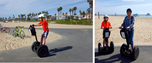 family travel Huntington Beach segway tour