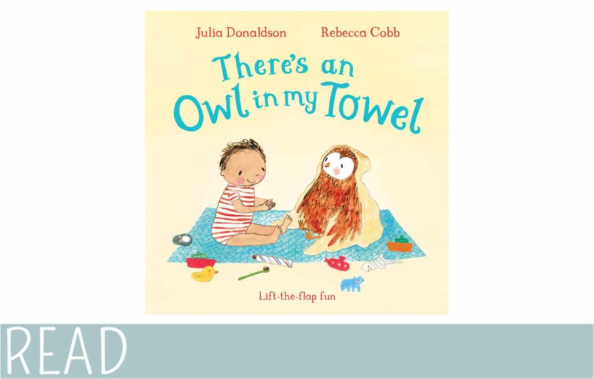 kids-book-review-theres-an-owl-in-towel book art