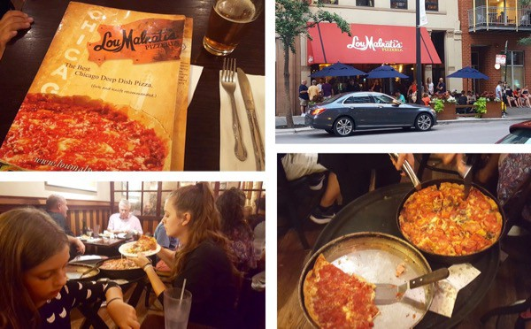 family-travel-chicago-river-north-restaurant-lou-maritas-deep-dish-pizza image