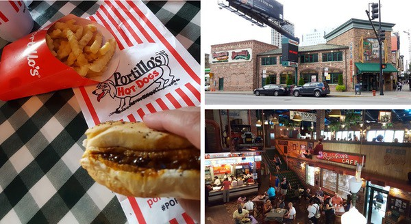 family-travel-chicago-river-north-restaurant-portillos-hot-dogs image