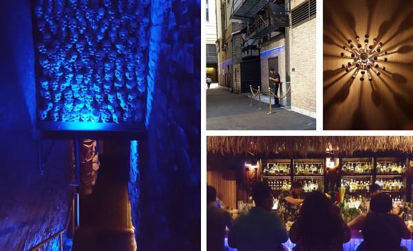 family-travel-chicago-river-north-restaurant-three-dots-dash-tiki-decor image