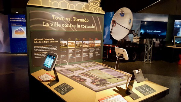 family-travel-science-centre-wild-weather-tornado-exhibit image