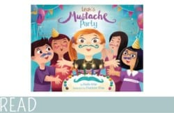 kids-book-review-leahs-mustache-party cover art